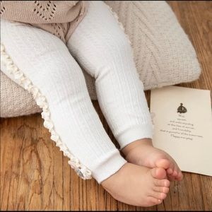 Warm baby girl tights size 12m & 24m